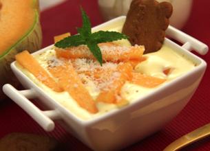 Tiramisu au melon et cannelle